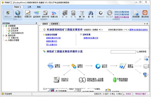 网络矿工数据采集软件 V5.3 绿色版