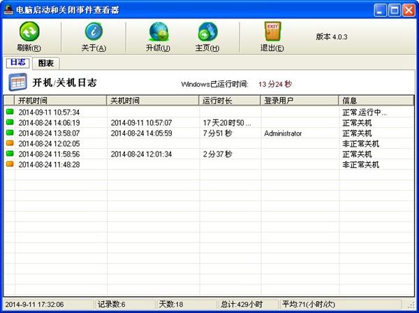 电脑开关机记录查看器 V4.0.3