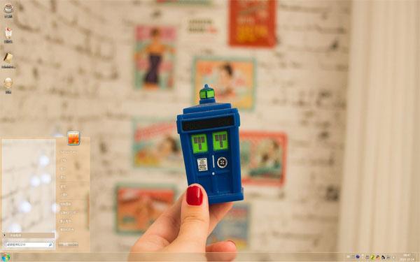 蓝色的小邮箱Win10主题