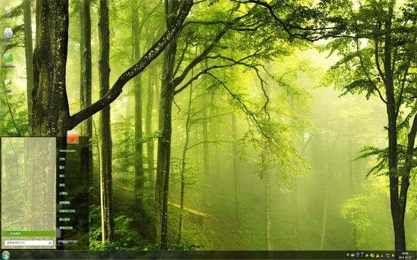 迷雾森林Win8主题