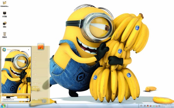 小黄人与香蕉可爱W8主题
