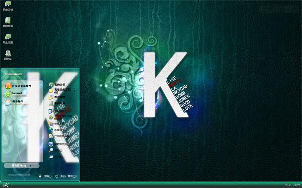 动感K字母W8主题